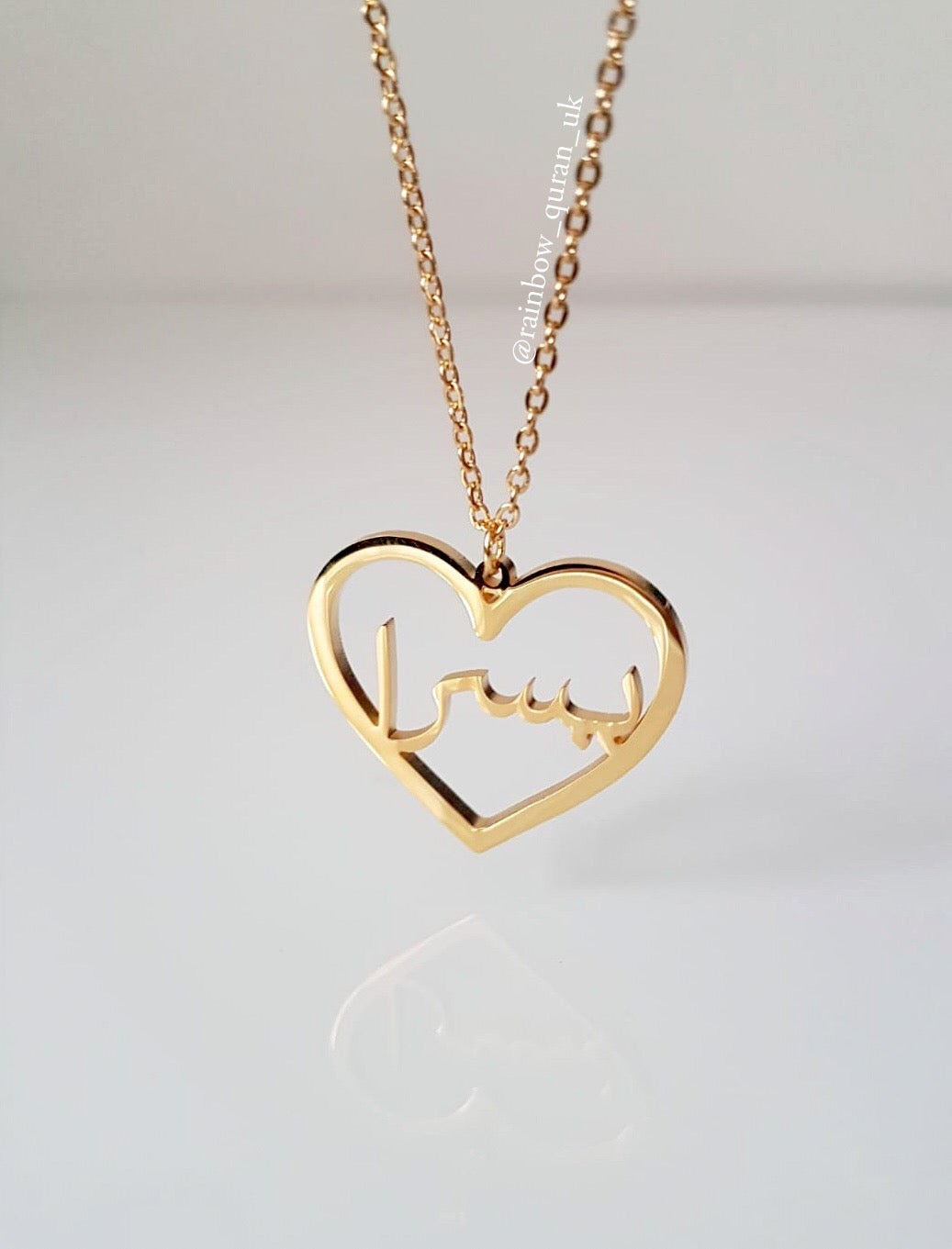 Image of Personalised Heart Neckalce