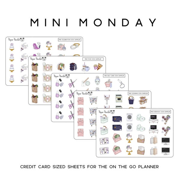 Image of Mini Planner Icons - Credit Card Sized