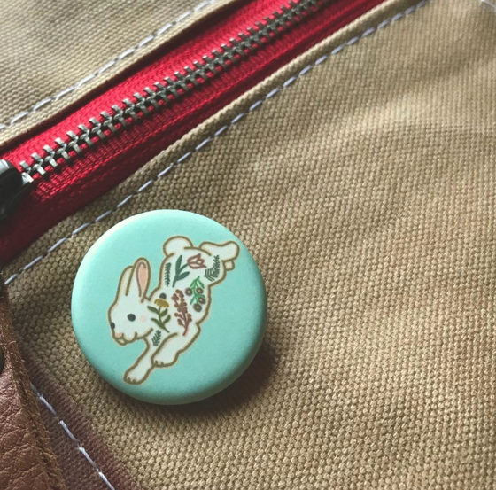 Image of Brave Bunny Pins