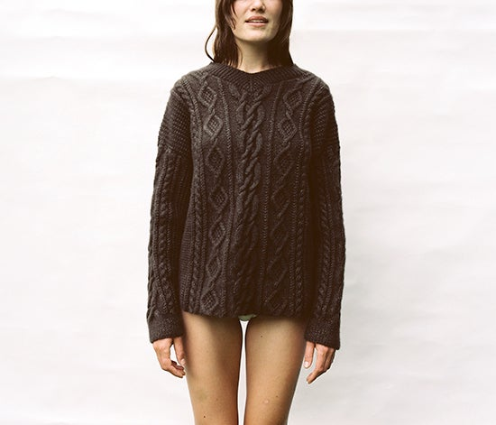 Image of Khaki Cashmere Patience Jumper