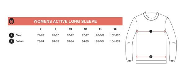 Women's Midnight Active Long Sleeve Tee - mekong
