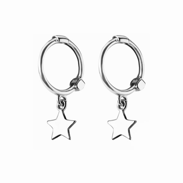 Image of Star hoops (sterling silver)