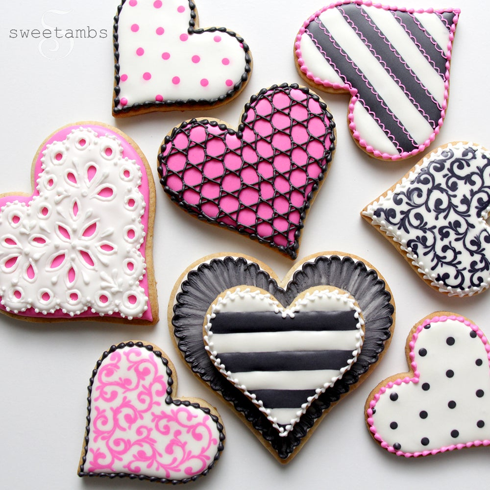 Image of 8 Valentine's Day Cookies - FREE SHIPPING