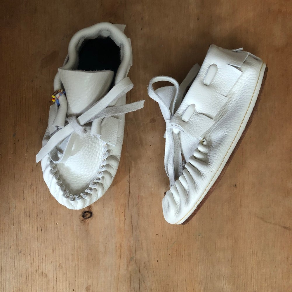 Image of Child's Moccasin Bootie - Soft White