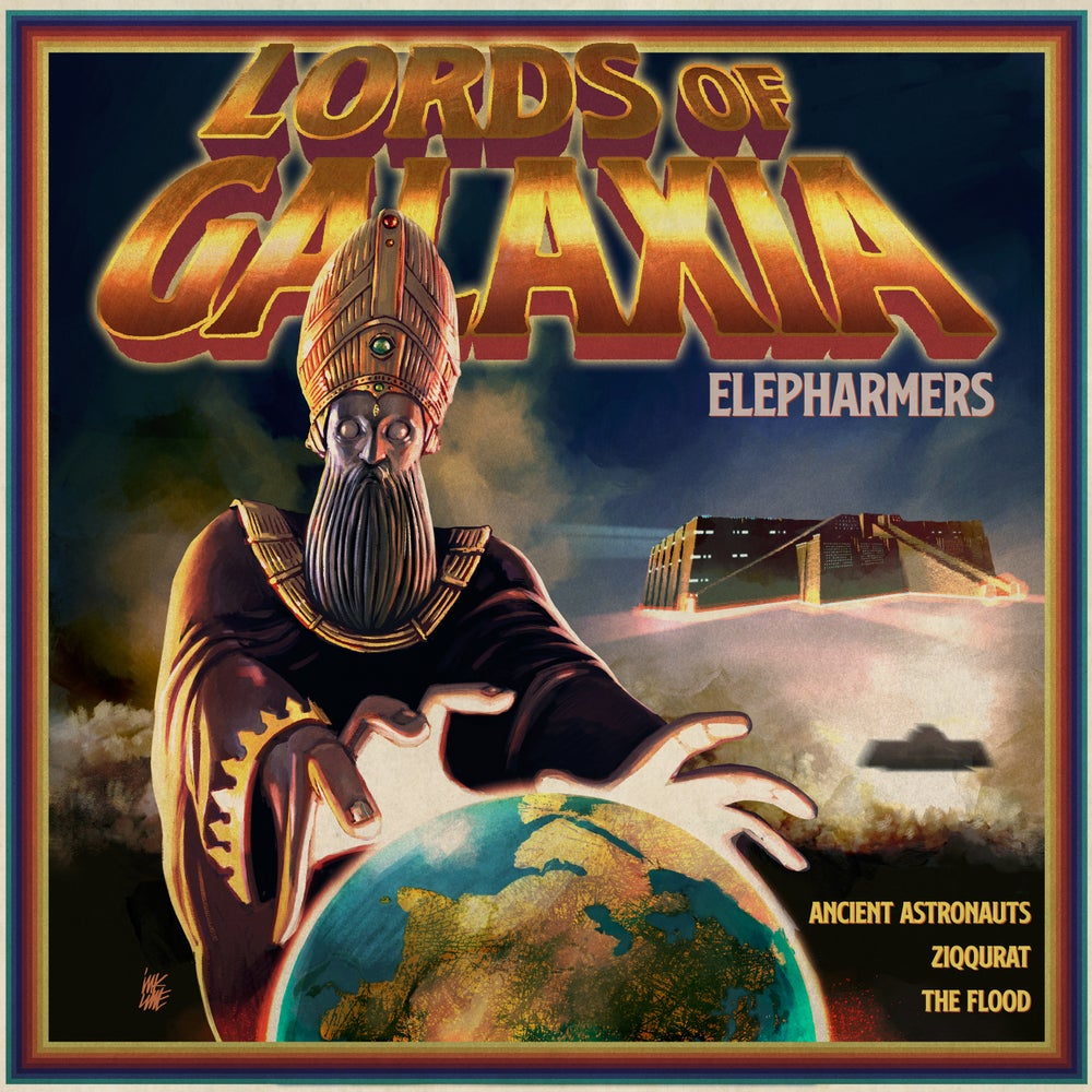 Image of ELEPHARMERS - LORDS OF GALAXIA Trasparent Blue Vinyl