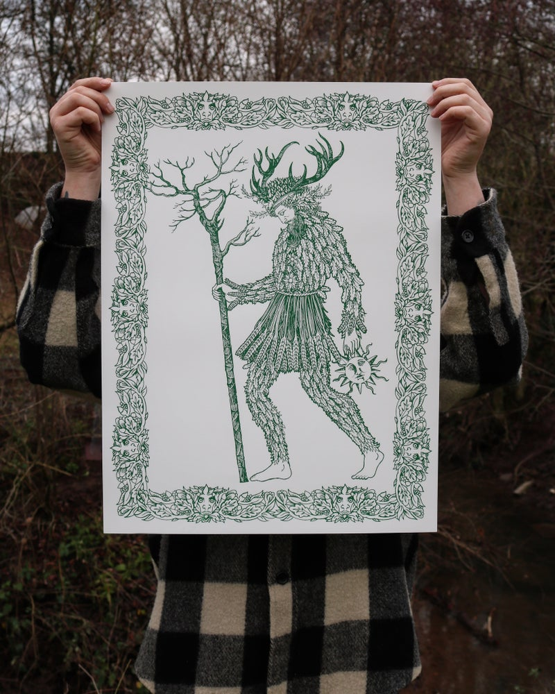 Image of The green man. (artist proofs)