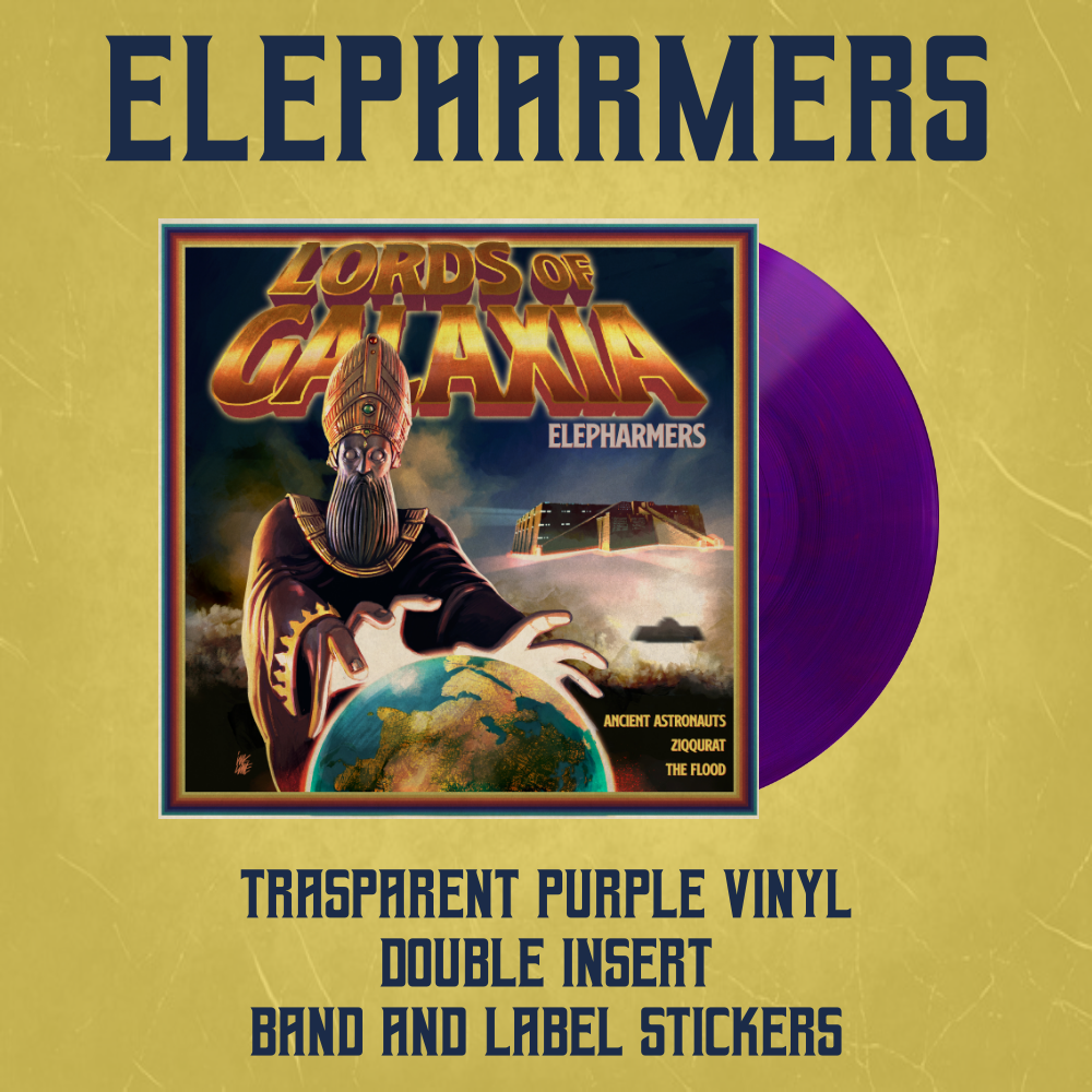 Image of ELEPHARMERS - LORDS OF GALAXIA Trasparent Purple Vinyl