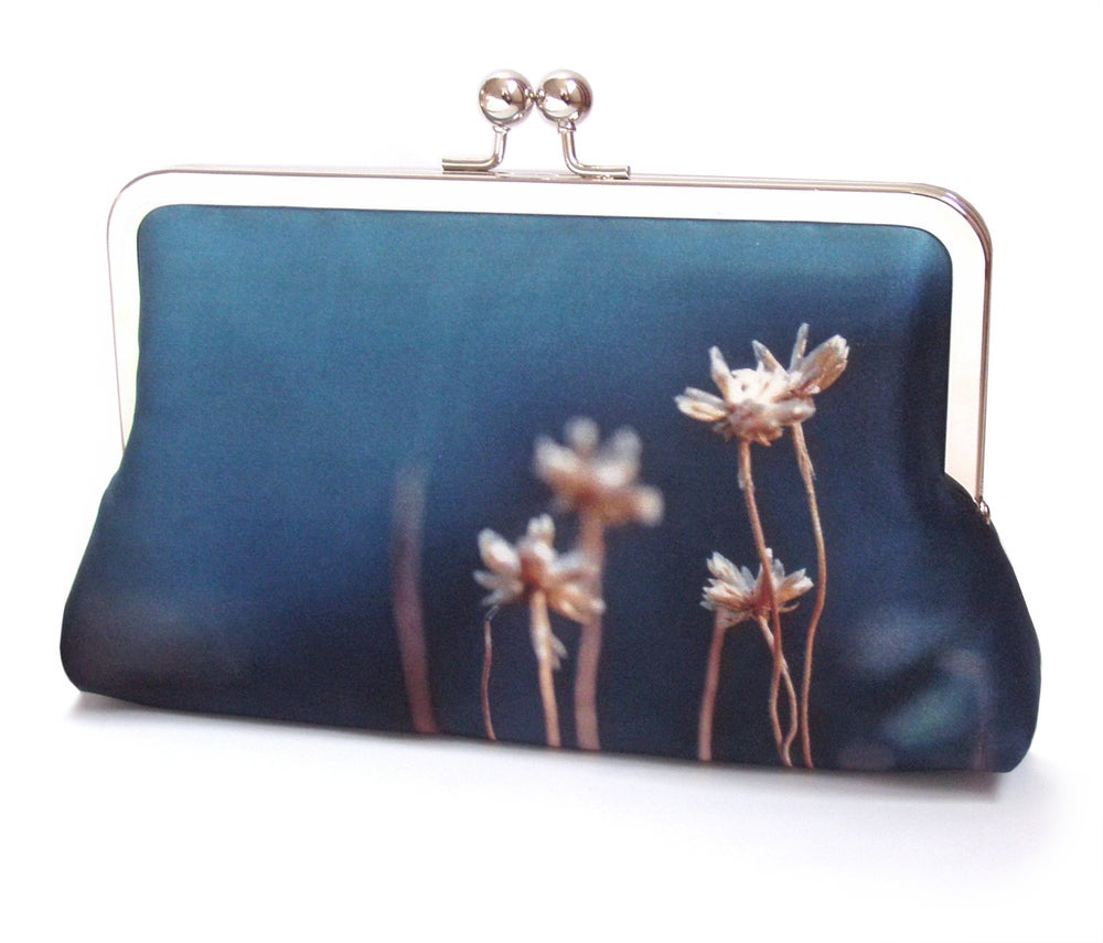 Image of Thrift blue clutch bag