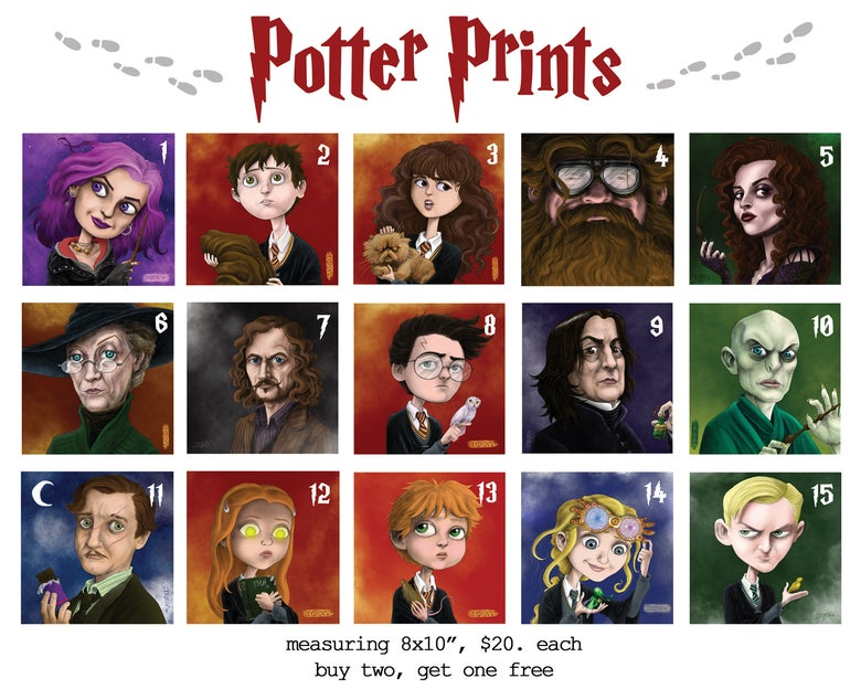 Image of Potter Prints!