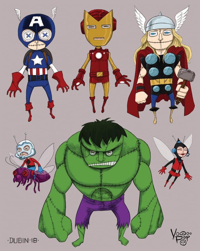 Image of Voodoo Pop Avengers