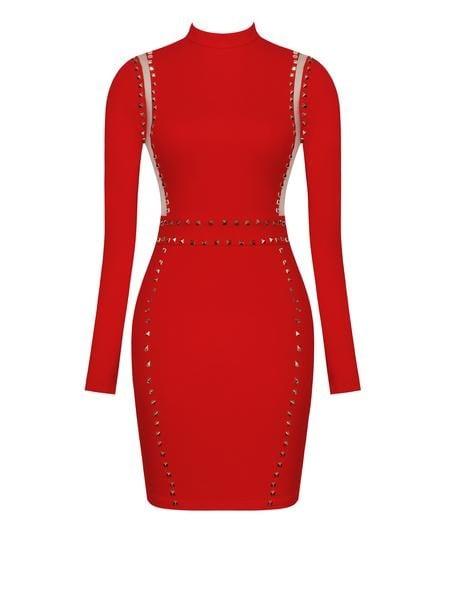 Image of Monica Studded Dress