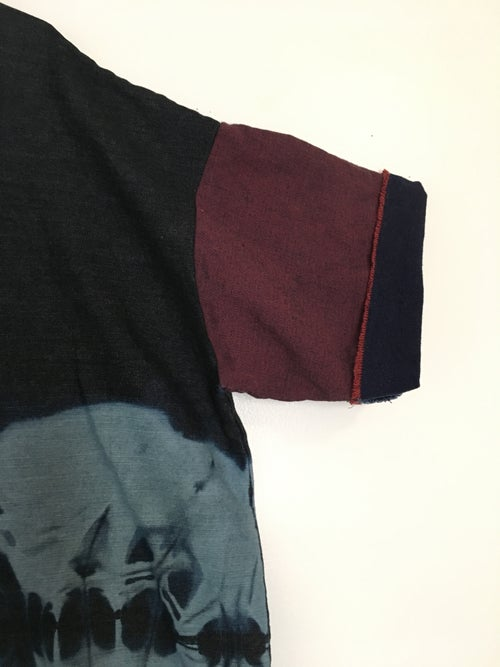 Image of Denim Multi-Tone Bleached Box TEE
