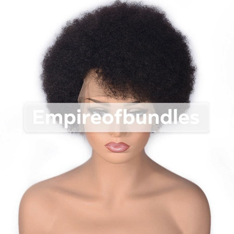 Image of Natural curl lace front puff wig unit