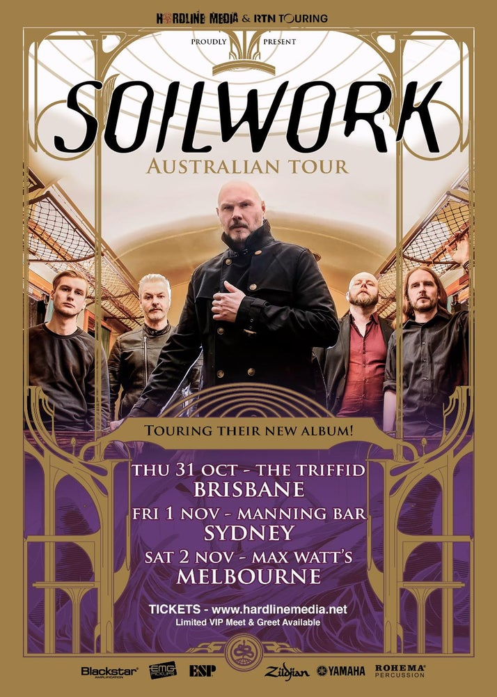Image of SOILWORK TICKET (VIP) - MELBOURNE, MAX WATT'S - SAT 2 NOV 2019
