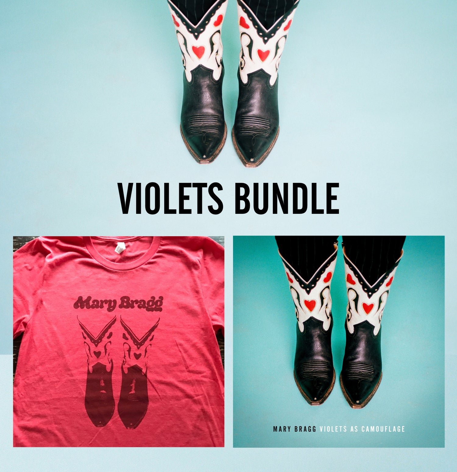 Image of Violets Bundle [Signed CD and T-Shirt]