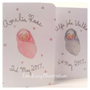 Image of Personalised New Baby Keepsake Card