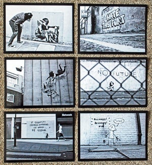 "Image of 6 x Black & White Banksy street art photos - 7"" x 5"" (2010-2012 era)"