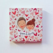 Image of Handpainted Wooden Portrait Magnet