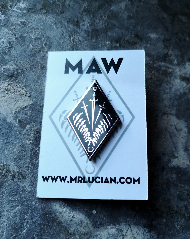 Image of MAW hard enamel sigil pin
