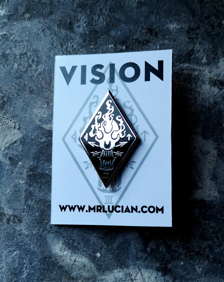 Image of VISION hard enamel sigil pin