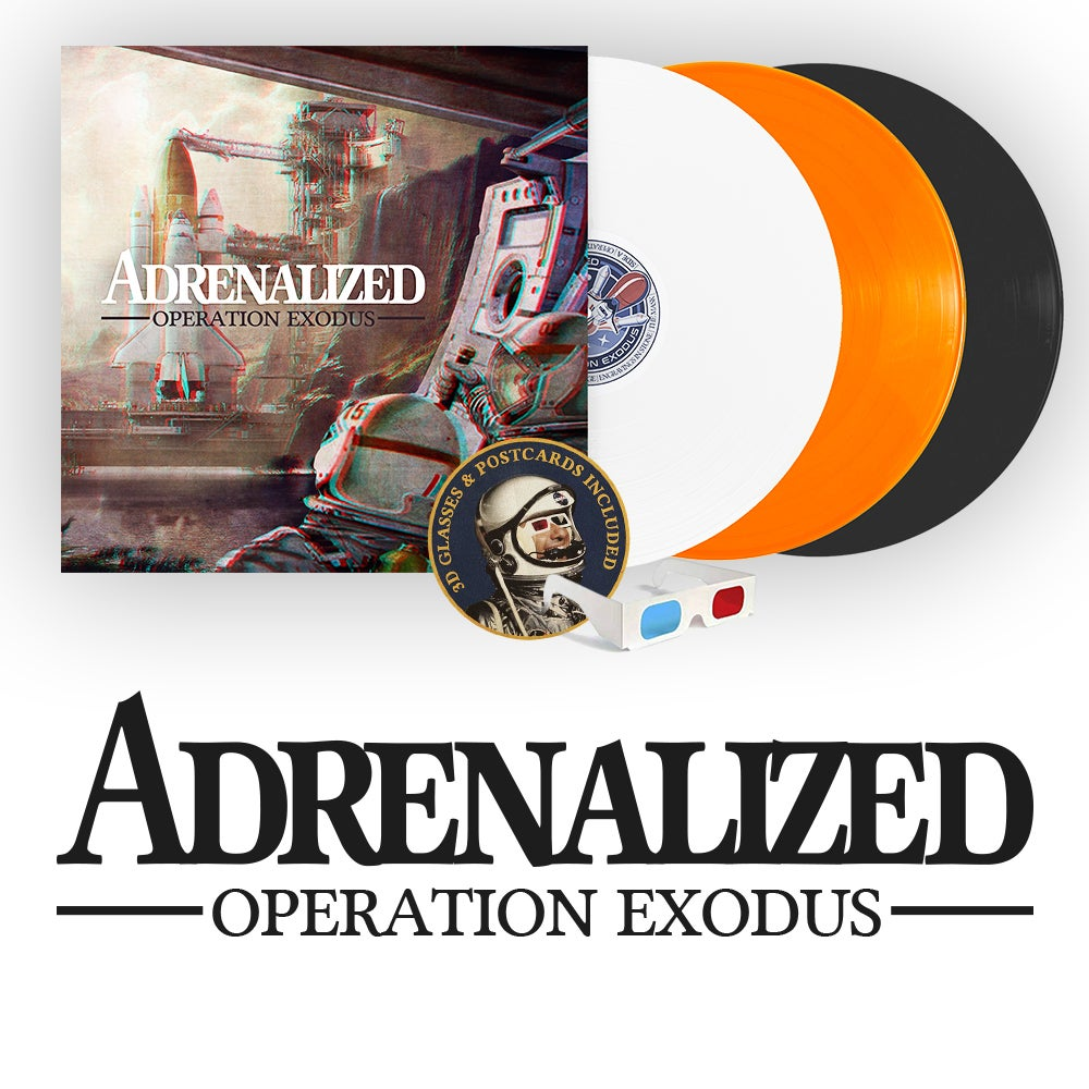 "Image of LADV114 - ADRENALIZED ""operation Exodus"" LP"