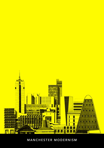 Image of Manchester Modernism (yellow with text) SPECIAL OFFER