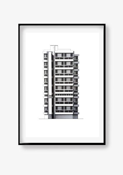 Image of Keeling House (A2 original pen & ink)