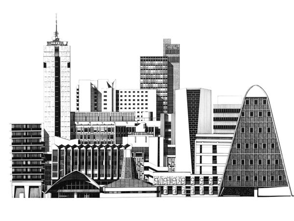 Image of Manchester Modernism (original pen & ink)