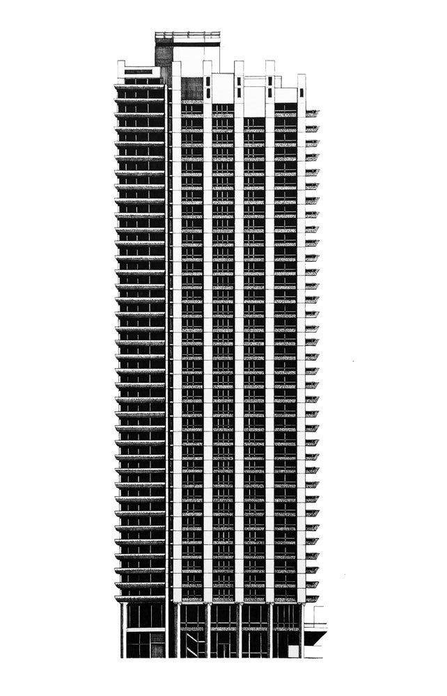 Image of Cromwell Tower / Barbican estate (ORIGINAL)