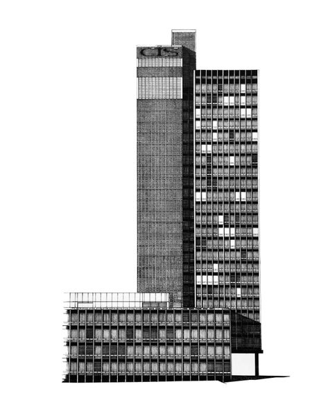 Image of CIS Tower ORIGINAL pen & ink