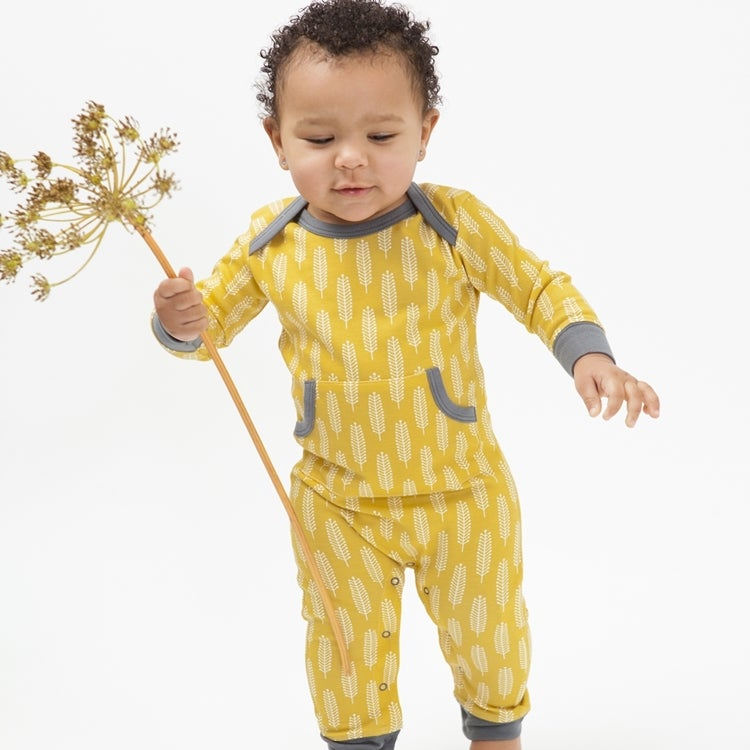 Image of Fresk Organic Cotton Long Sleeve Romper