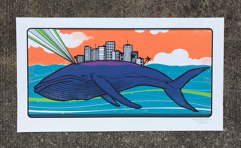 Image of Whale Print
