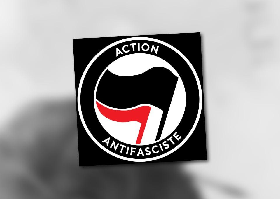 """Image of Lot de 100 autocollants (""""ACTION ANTIFASCISTE"""")"""