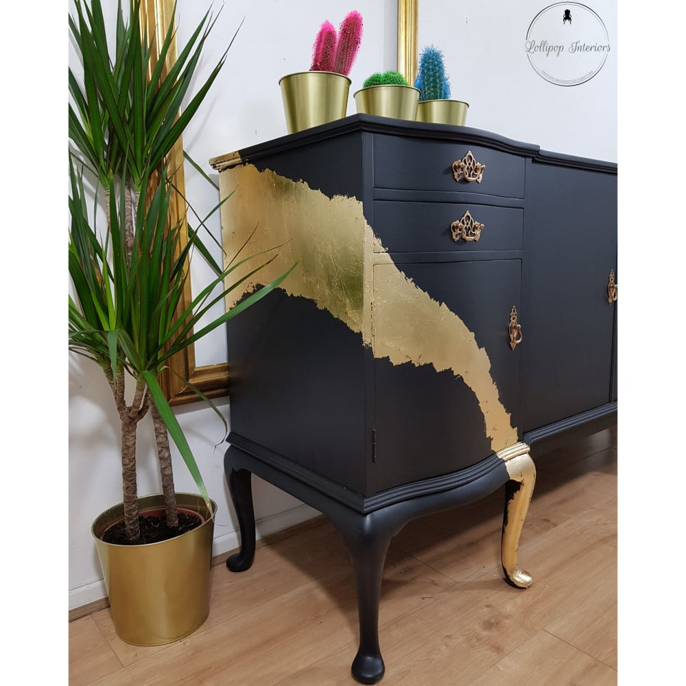 Image of Strongbow sideboard in black and gold