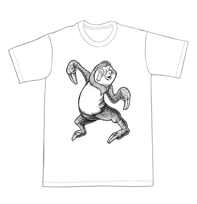 Dancing Sloth T-shirt (B3) **FREE SHIPPING**