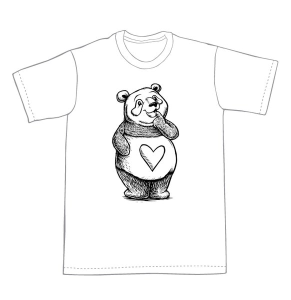 Image of Thinking Panda T-shirt **FREE SHIPPING**
