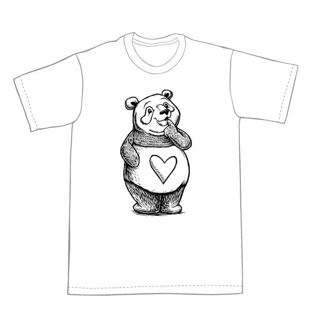 Thinking Panda T-shirt (A2)**FREE SHIPPING**
