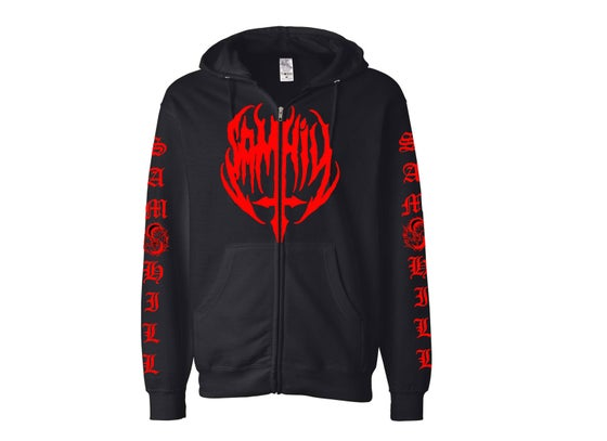 Image of Sam Hill Hoody Black/Red