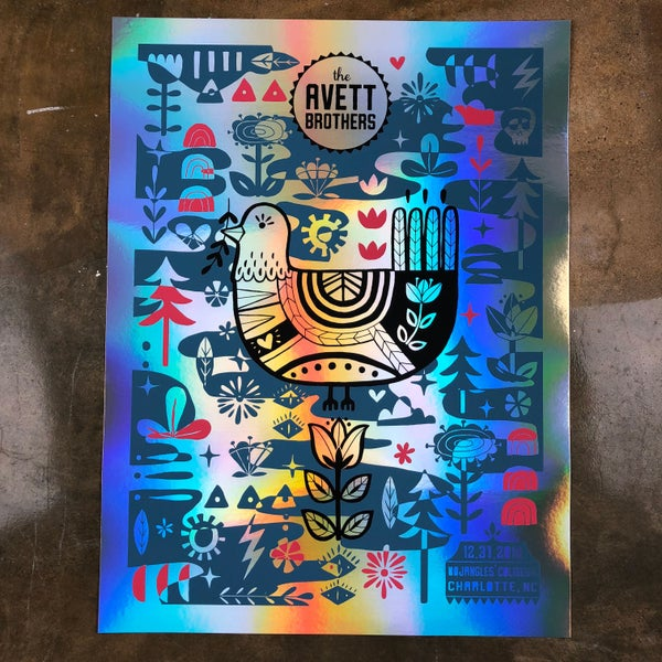 Image of The Avett Brothers NYE 2018 VIP *Night 2* FOIL