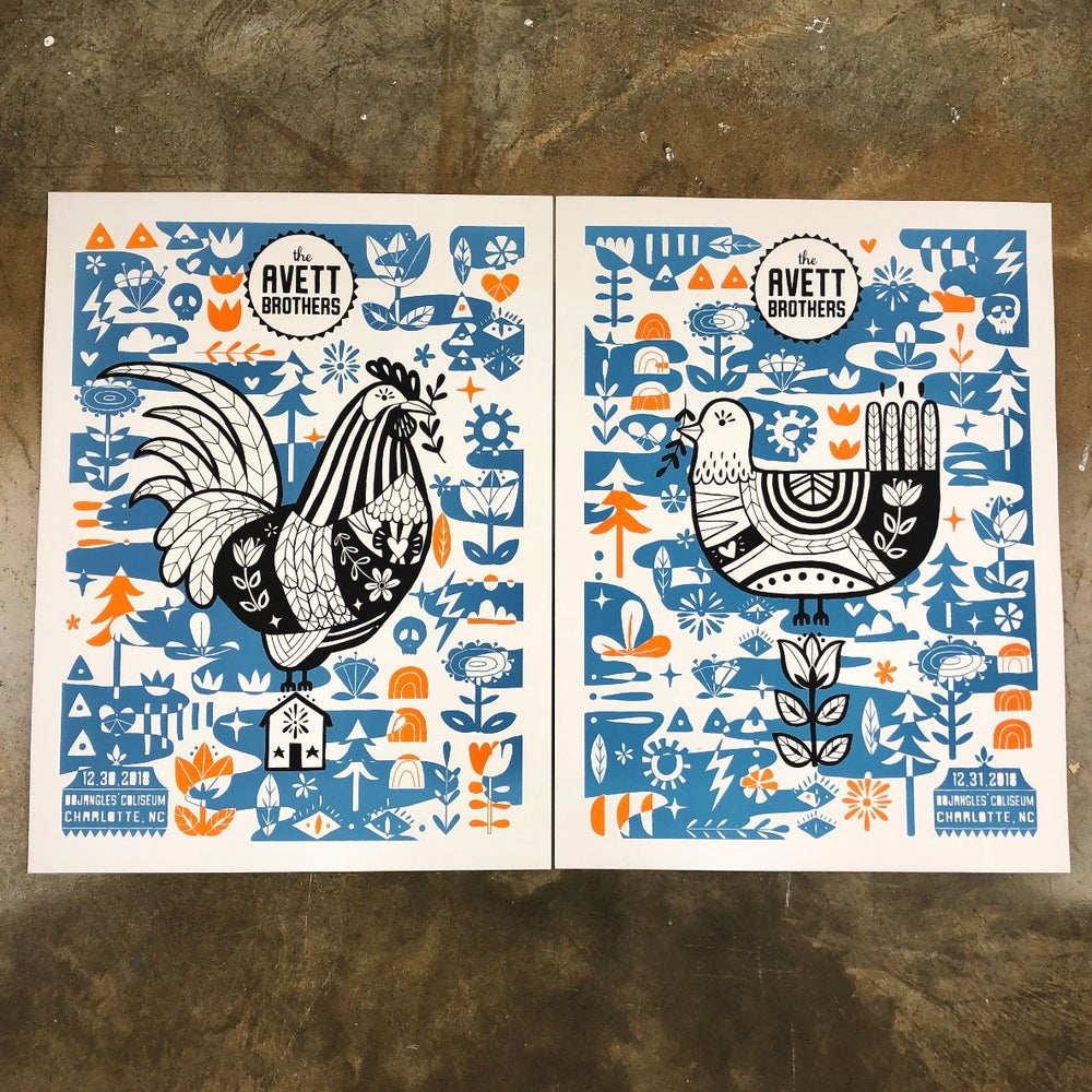 Image of The Avett Brothers NYE 2018 VIP Artist Edition *SET*