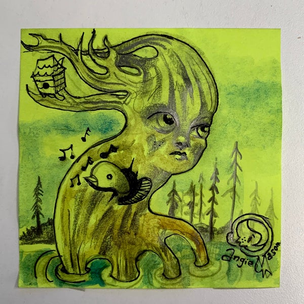 Image of ArtBits Itty bitty stickies sketch - Self Uprooting