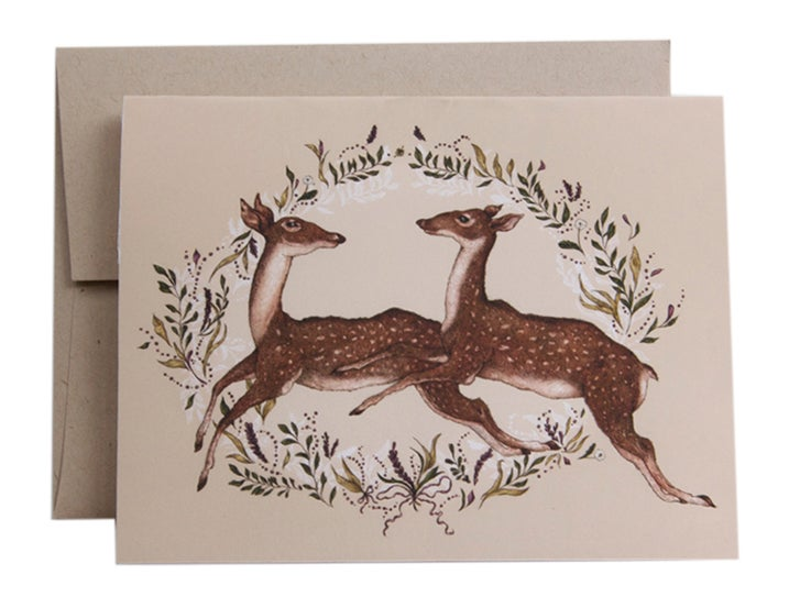 Image of Jumping Deer Card