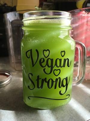 Image of VEGAN BABE 12 OZ MUG /Drink vegan things 15 oz glass
