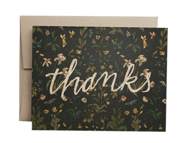 Image of Thanks Greeting Card