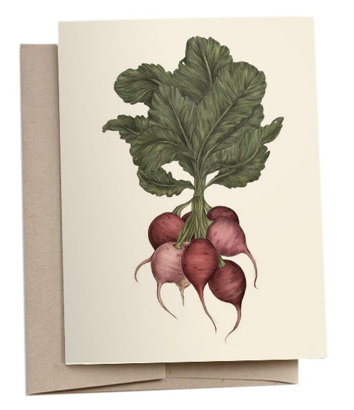 Image of Radishes Greeting Card