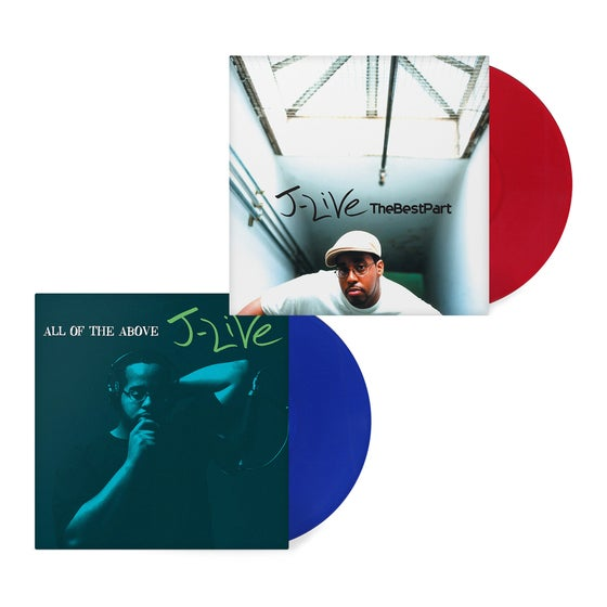 Image of Item: The Best Part & All Of The Above (Signed) Red & Blue Vinyl Bundle