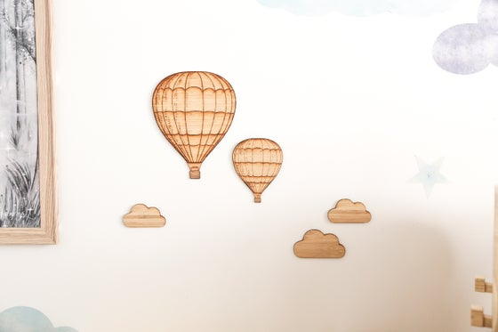Image of Set of 2 hot airballoons