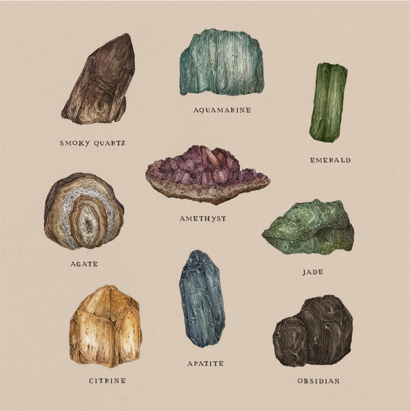 Image of Gems and Minerals Print