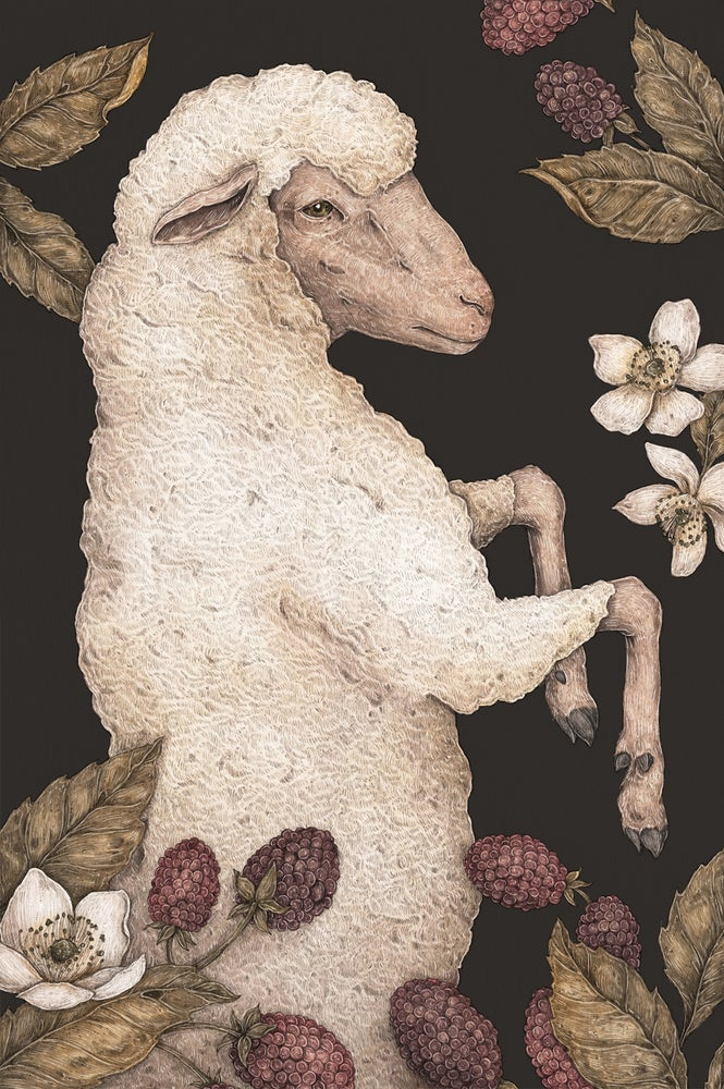 Image of The Sheep and Blackberries Print