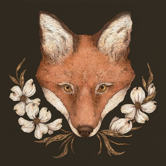 Image of The Fox and Dogwoods Print
